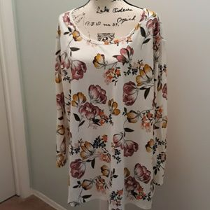 EUC Terra&Sky floral long sleeve shirt 2X